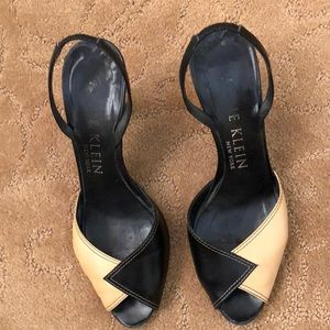 Anne Klein Peep toe sling back shoes